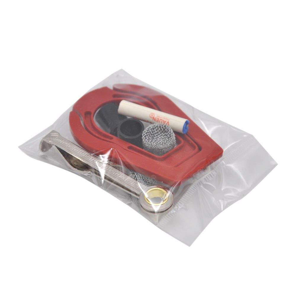 טבק צינור עץ מתכת צינור אביזרים עישון: מתכת בעירה מסך, עישון מסנן מסנן, גומי טיפים, מעמד פלסטיק, סכין