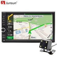 """Junsun 2 Din Android 6.0 DVD Del Coche Reproductor de Radio 7 """"1024*600 Universal Para Nissan vw Navegación GPS BT autoradio Estéreo de Audio jugador"""