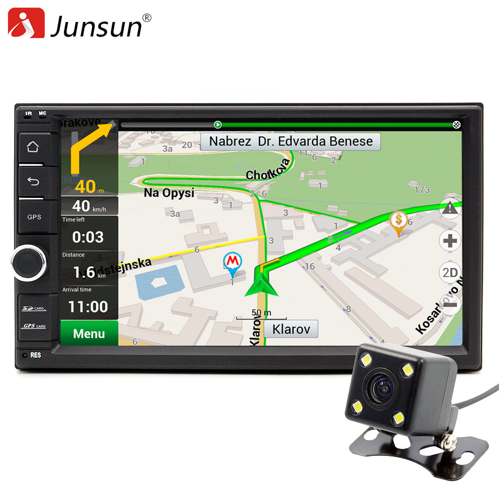 Junsun Quad Core 7 2 Din Android 6.0 Car DVD Radio Multimedia Player 1024*600 Universal GPS Navigation autoradio Stereo Audio junsun quad core 7 2 din android 6 0 car dvd radio multimedia player 1024 600 universal gps navigation autoradio stereo audio