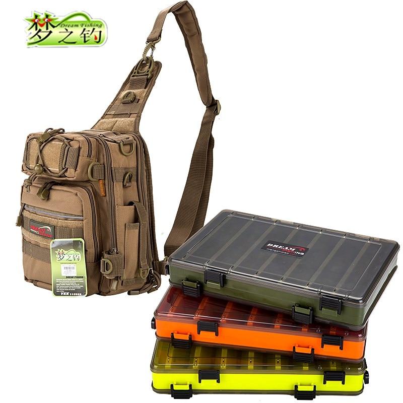 Dream Fishing Multifunctional Bag 14*24*29cm Large Capacity Nylon Tackle Double/Single Side Box