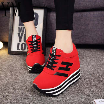 2018 Hot Ladies Shoes With Heels Red Woman Shoes Platforms High heels Ladies Shoes With Heels Lace-UP Floral Print Size 35-39