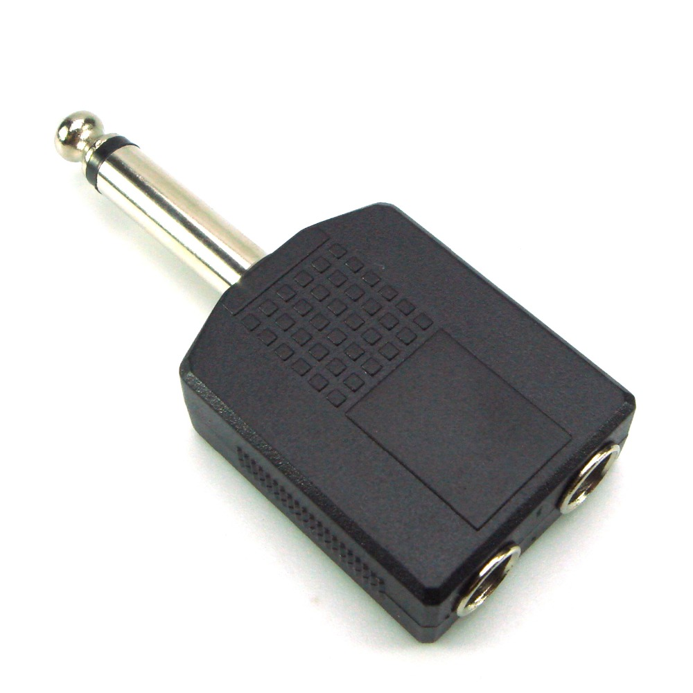 "1/4 ""stereo Audio Jack Plug Adapter Enkele Man-vrouw 6.35mm Dual Mono Stereo Jack Hoofdtelefoon Microfoon Y Splitter Converter Wees Onthouden In Geldzaken"