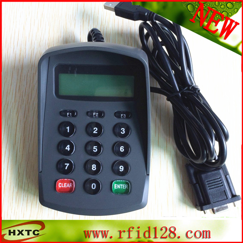 LCD Display 15 Key numeric keybord E-Payment Pinpad for supermarket contact card reader with pinpad numeric keypad for financial sector counters