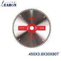 LEABON 450mm Saw Blade 80Teeth High Quality Clear Color Wood TCT Saw Blade Circular Saw Blade,Wood Cutting Blade 450x3.8x30x80T