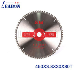 LEABON 450mm Zaagblad 80 Tanden Hoge Kwaliteit Clear Kleur Hout TCT Zaagblad Zaagblad, hout Zaagblad 450x3.8x30x80 T