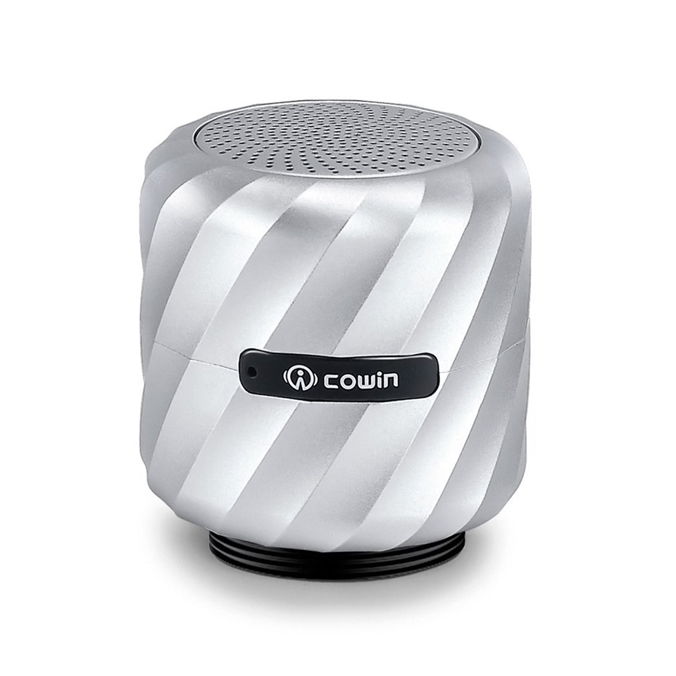 цена на Cowin Qbeat Mini Bluetooth Vibration Speaker Portable Wireless Subwoofer with MIC for phone Computer and Suction Cup Stander
