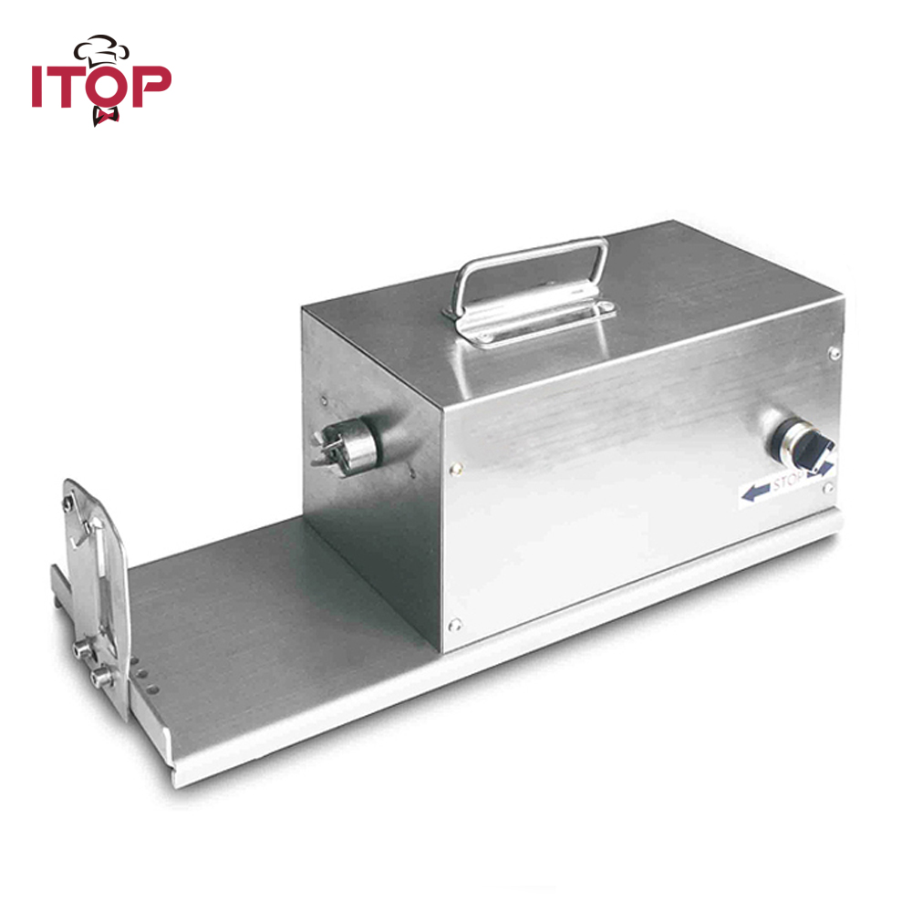 ITOP 40W Electric Spiral Potato Cutter Twister Spiral Slicer Automatic Potato Cutter Stainless Steel Machine With 3 Blades
