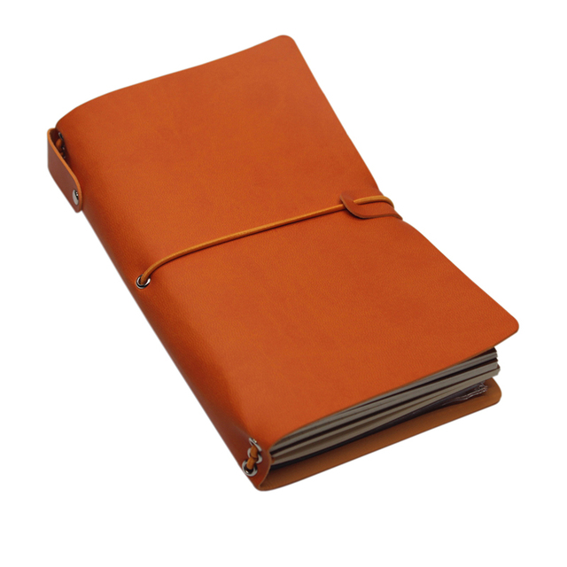 soft cover vintage pu leather journal travel notebook binding book
