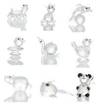 H& D стеклянные Хрустальные мини фигурки настольные украшения ремесла Искусство и коллекция сувенир домашнее украшение 10 видов