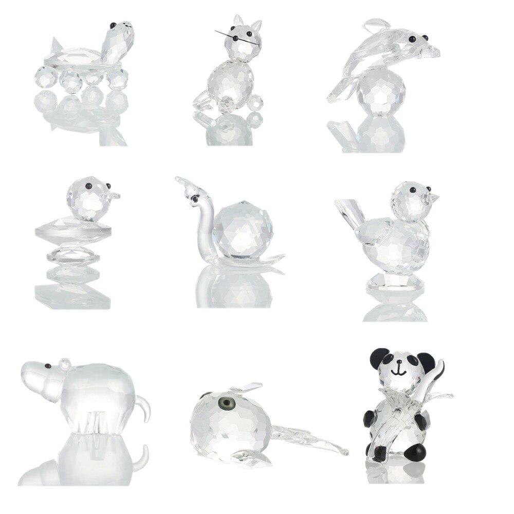 H & D Mini cristal Figurines Mesa adornos artesanías arte y colección recuerdo casa decoración 10 Tipo
