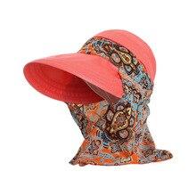 Модная женская Солнцезащитная шляпа для лица, летняя пляжная складная шляпа с защитой от ультрафиолета и широкими полями, Регулируемая Кепка, Новинка