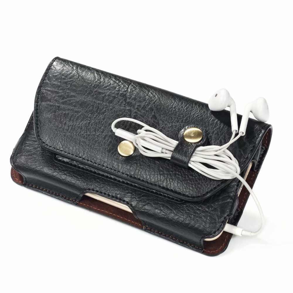 Saco Da Cintura Bolsa de Cinto Clipe Caso PU de Couro Para o iphone 11 Pro Max X Max 6 6 XR XS S além de 7 Plus 8 Plus Com Saco Titular Do Cartão
