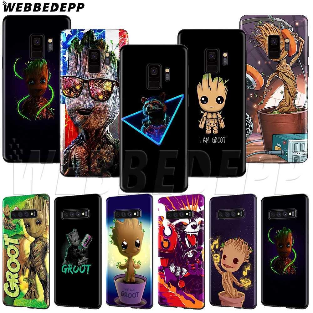 WEBBEDEPP Marvel Avengers Groot Deadpool Mềm TPU cho Samsung A3 A5 A6 A7 A8 A9 J6 Plus 2016 2017 2018