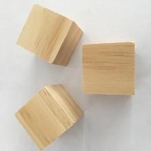 цена на 16 pcs children educationcal brick toy pine wooden blocks 4*4*4cm