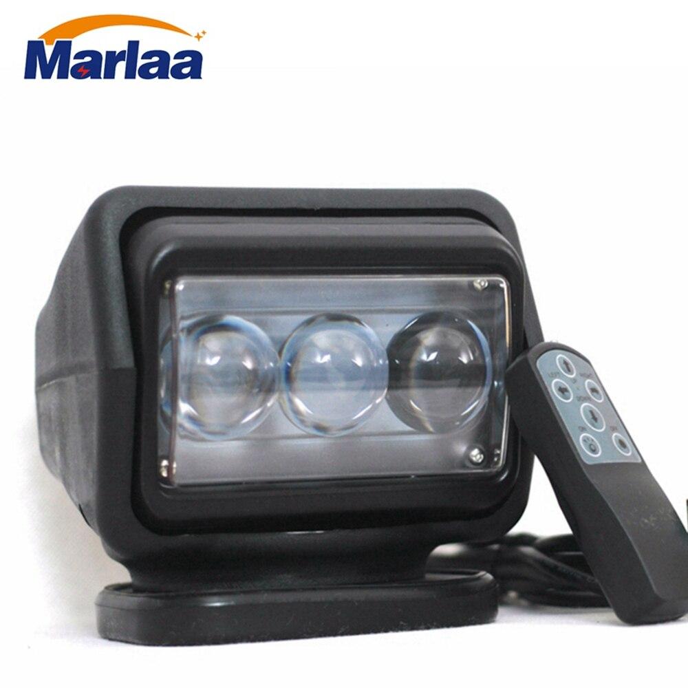 Marlaa 7 pollice Interruttore di telecomando luce di ricerca auto luce del punto 60 w led luce di ricerca 12 v per la barca Auto Caccia Lampada Funzionante