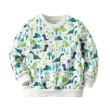 Boys Girls Sweatshirt Baby Hoodie Dinosaur Print 2018 Autumn Winter Kids Clothes Children Sweatshirts for Girls Hoodies Pullover Hoodies & Sweatshirts