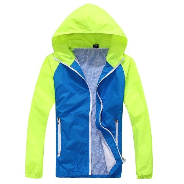 2016 Вс защита кожи УФ одежда верхняя одежда быстрый сухой мужчины лоскутная капюшоном пальто молнии с длинным рукавом куртки на лето MQ105