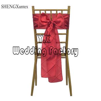 Tafta Pintuck krzesło szarfy na Krzesło typu Chiavari dekoracji wesele i imprezy tanie i dobre opinie Ślub BANQUET Hotel SHENGXuntex Zwykły 15cm*275cm kkj-098aq Tafta tkaniny Gładkie barwione wedding
