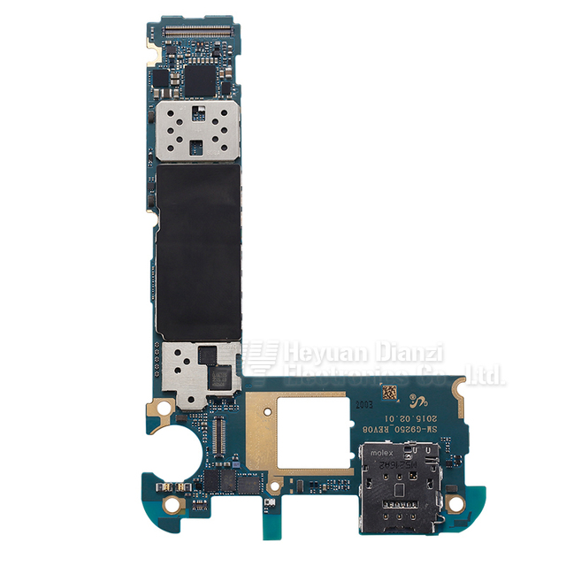 100% motherboard mainboard original para samsung galaxy s6 edge g925f con chip de 32 gb freeshipping
