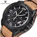 Pagani design relojes de los hombres reloj de la marca de lujo de cuero del cuarzo militar impermeable wistwatch multifunción deportes relogio masculino