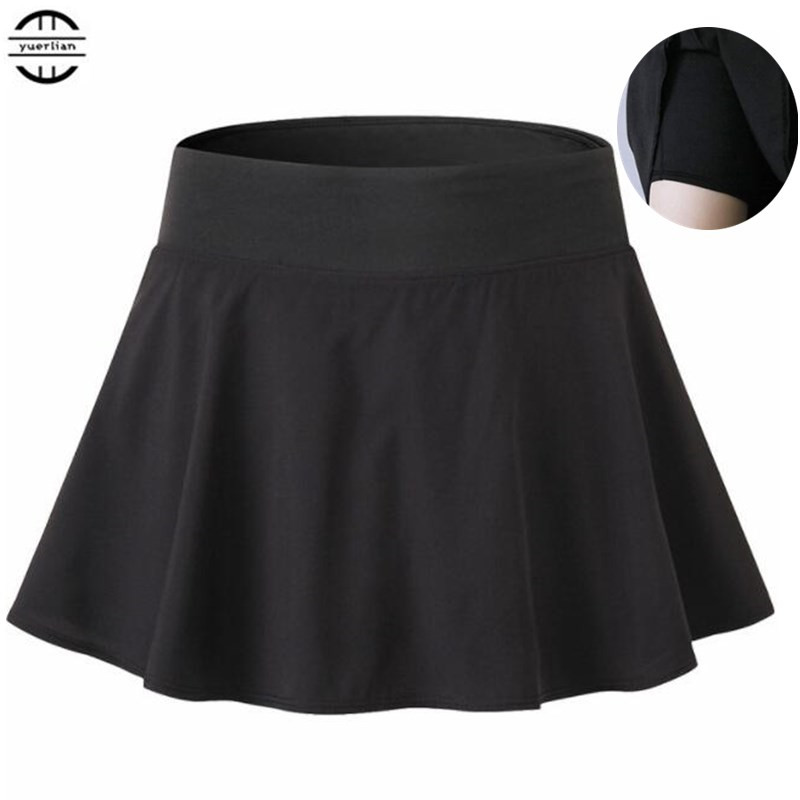 100p Women&Girl Preppy Style Skirt,Anti Emptied A-type Sporting Casual Mini Short Skirts Two-piece Culottes With Safe Bottomwear