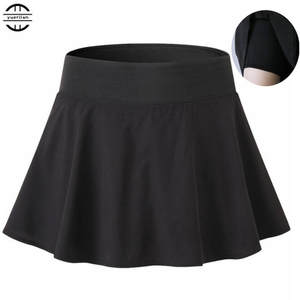 Skirt Culottes Mini Short Women Girl Bottomwear Casual with Safe 100p Two-Piece Anti-Emptied