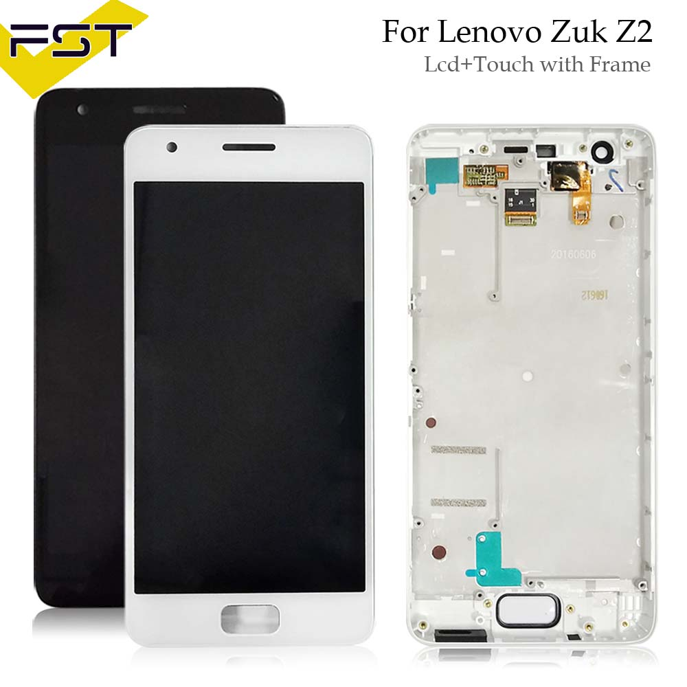 Mobile Phone Flex Cables For Lenovo Zuk Z2 Lcd Display And Touch Screen Digitizer 100% Tested Working Assembly Replacement For Lenovo Zuk Z 2 Lcd