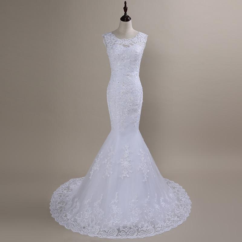 QQ Lover Mermaid Wedding Dresses 2019 Plus Size Wedding Dress