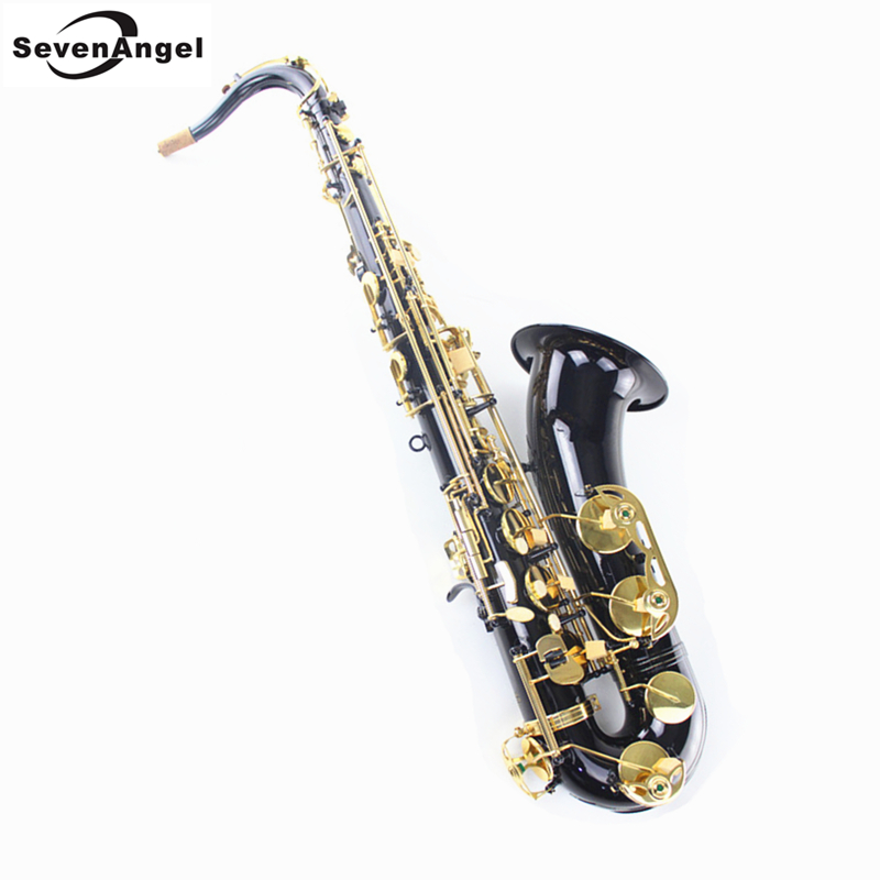 Black Tenor Sax Bb saxophone Western Instruments saxofone Wind Instrument Saxophone Tenor Professional Musical Instrument bb f tenor trombone lacquer brass body with plastic case and mouthpiece musical instruments