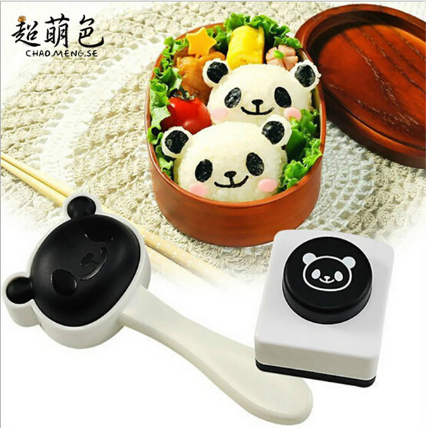 The new super cute panda rice ball mould sushi DIY suit creative kitchen tools