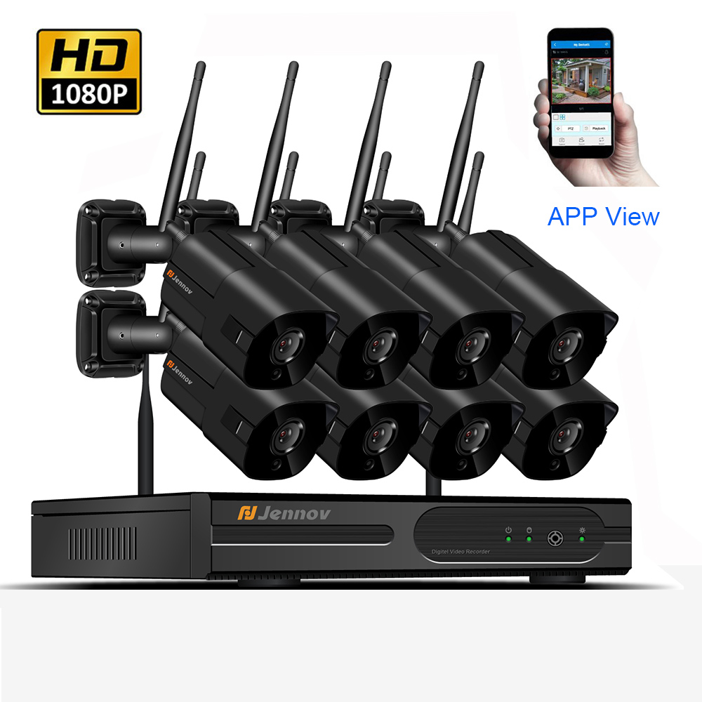 8CH Wireless NVR HD 1080P 2MP Outdoor Home Security Camera System CCTV Video Surveillance NVR Kit Wifi Camera Set Ip Camera