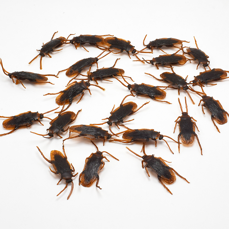 500pcs Lifelike Plastic Simulation Cockroach Tricky Joking Scary Gags Practical Jokes Toys For April Fool's Day Supply Wholesale