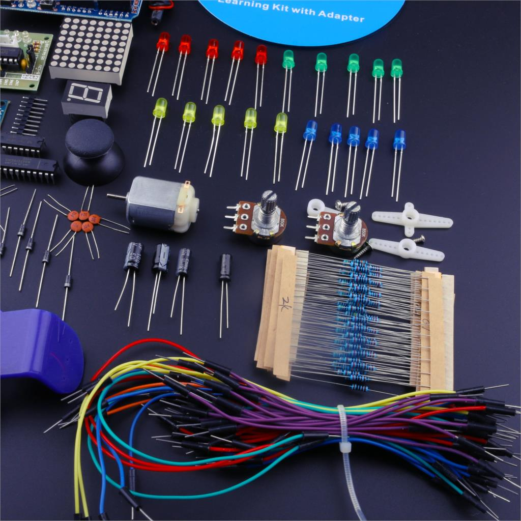 The Best Diy Starter Kits Uno R3 With Tutorial Power Supply Learning Electricity Electrical Circuits Kit Eu Plug In Integrated From Electronic Components Supplies On