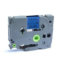 Saya 6 pces p-touch compatível para o irmão Tze-531 12mm x 8m fita de rotulagem padrão
