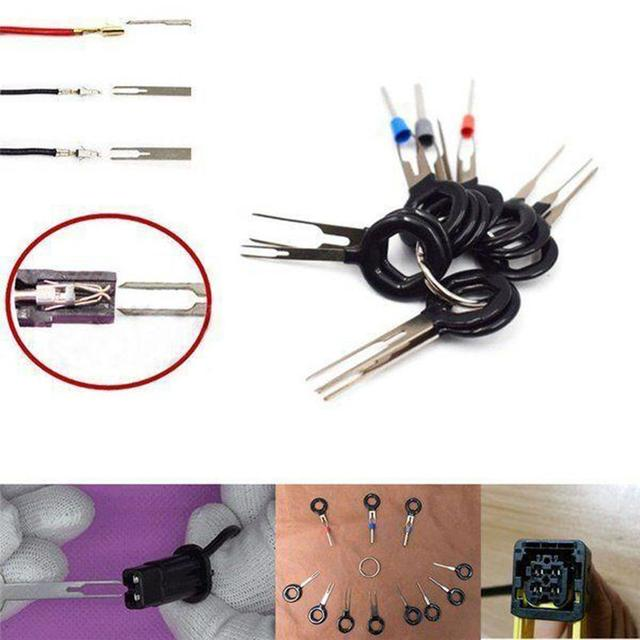 2018 11pcs set terminal removal tools car electrical wiring crimp rh aliexpress com Automotive Wiring Components Auto Electrical Wiring Harness
