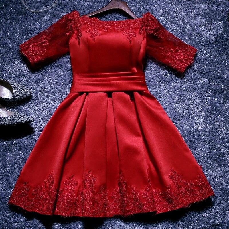 Vestidos para damas de honor rojos cortos