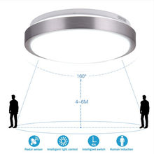 Radar Induction/Sounds Control led ceiling lights Modern Lustre Acrylic Lamp Shade Bathroom Aisle Stairs Balcony Ceiling lamp(China)