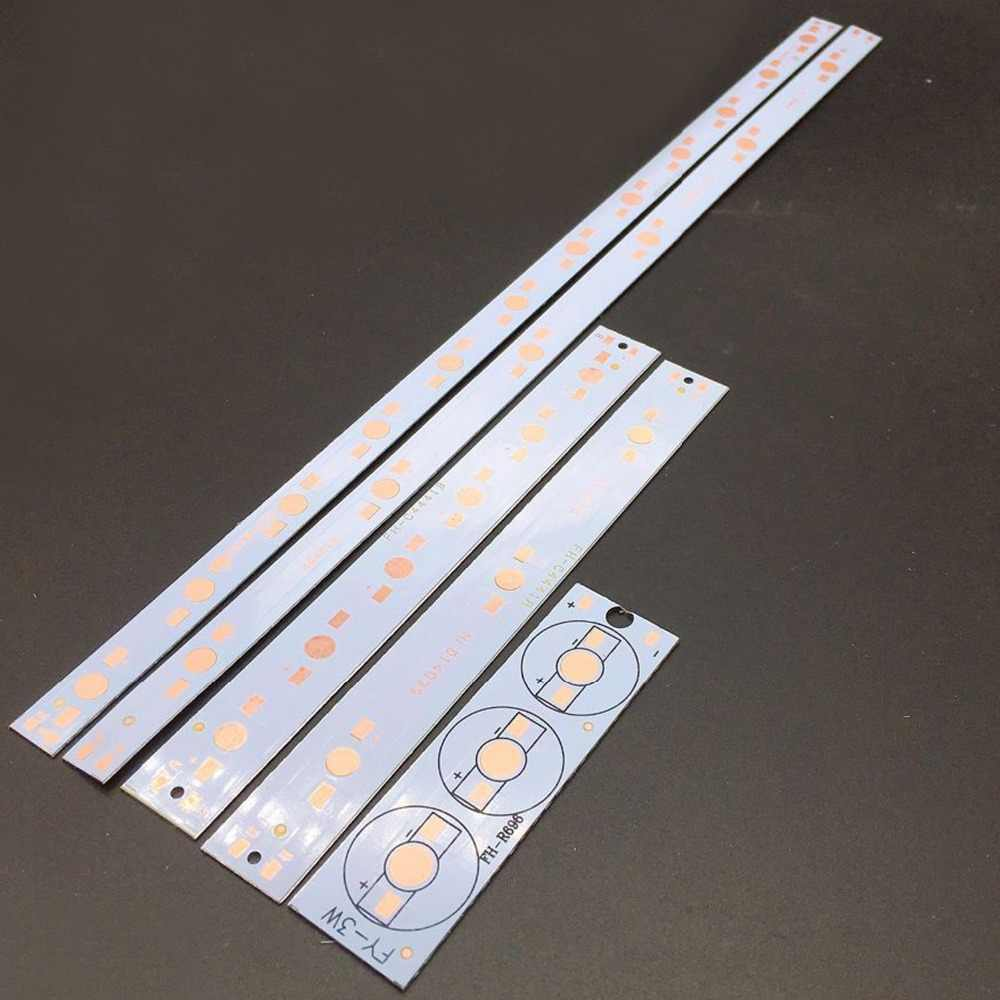 3W 6W 12W Aluminium PCB Circuit Board for 3PCS 6PCS 12PCS 1w,3w,5w LED in Series DIY