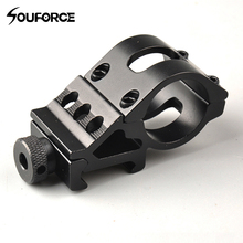 QD 45 Degree Offset with 25.4/30mm Ring Hunting Rifle Flashlight Bracket Clip Mount for 20mm Mount Picatinny Rail M