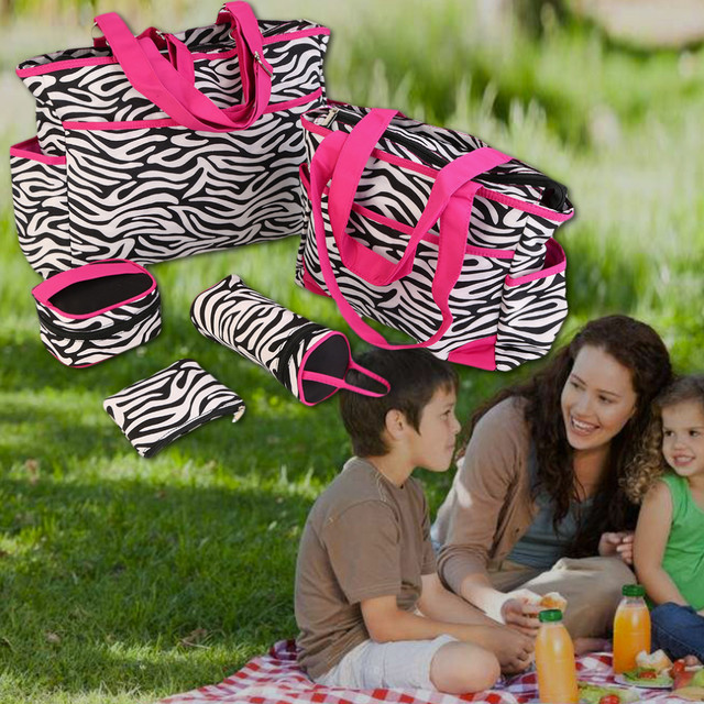 Free Shipping Multifunctional Baby Diaper Bags Backpacks Mummy Bags Nappy Backpacks 6pcs
