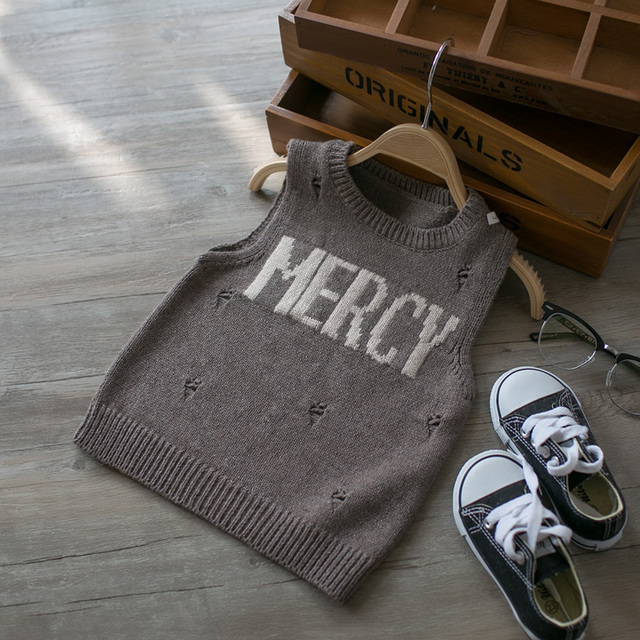 2017 spring and autumn children baby boys and girls vest sweater kids fashion sweater