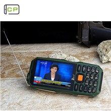 Dweif D2017 9800 мАч фонарик Внешний аккумулятор две sim-карты кнопочный мобильный телефон 3,5 дюймов HD экран антенна аналоговый ТВ
