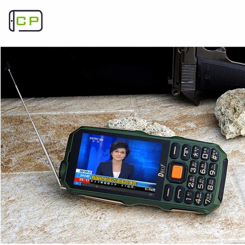DBEIF D2017 9800 мАч фонарик power Bank две sim-карты кнопочный мобильный телефон для рукописного ввода сенсорный экран антенна аналоговый ТВ