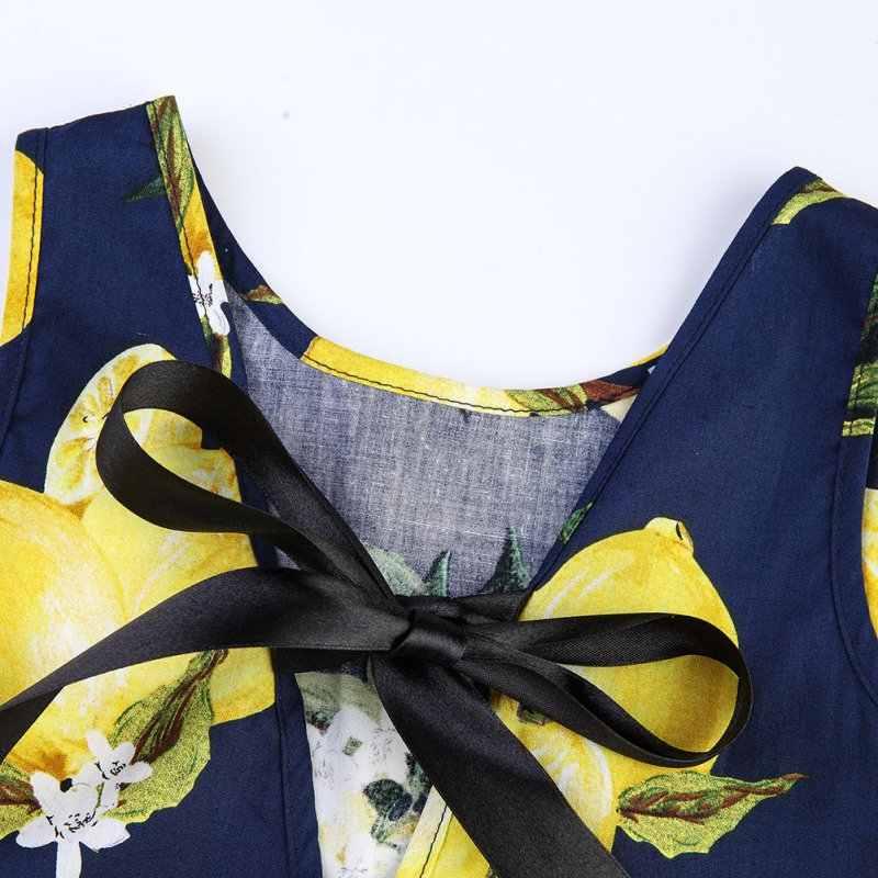 2018 เด็กผู้หญิงรูปแบบการพิมพ์ผลไม้ชุดเด็กวัยรุ่นฝ้ายชุดเสื้อผ้าฤดูร้อน Vestidos 2017