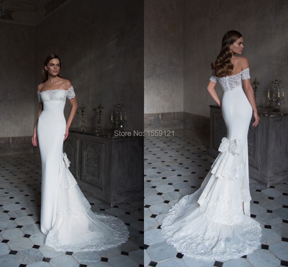 Mermaid lace wedding dress 2016 off the shoulder court for Mermaid wedding dress with detachable train