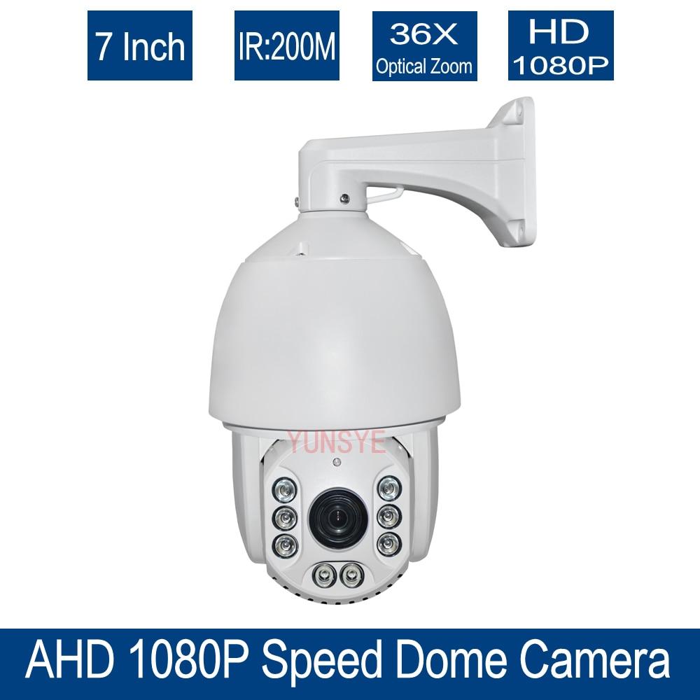 Free shipping 36x Optical Zoom CCTV HD 1080P 7 inch High Speed Dome AHD PTZ Camera Outdoor Nightvision IR 150M AHD CAMERA 1080P