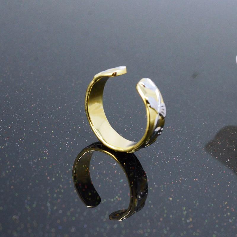 856757d2c826 Escalus flores boda cobre oro Color mujeres anillo magnético ...