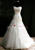 Prawdziwa próba piękna linia lace appliqued gorset tulle skirt zipper powrót suknia ślubna 2014 z chin producenta s019