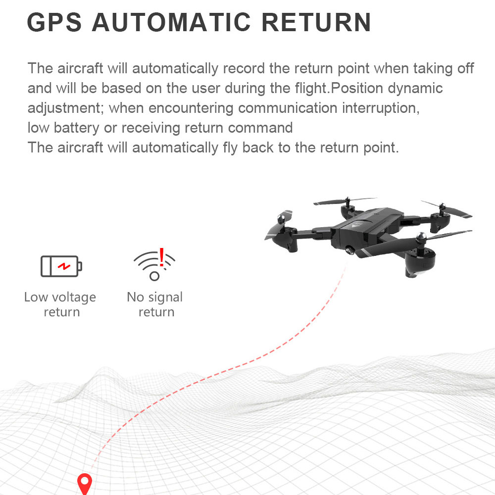 SG900 GPS Quadcopter With Auto Return WIFI FPV Drone 1