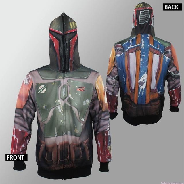 New Star Wars Bounty Hunter Boba Fett Zipper Hoodies Sweatshirts Top